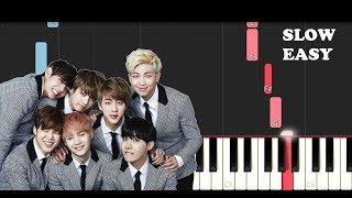 Bts - Euphoria (SLOW EASY PIANO TUTORIAL)