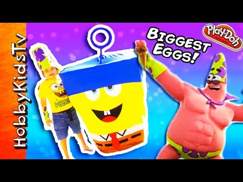 Giant InvinciBubble SpongeBob and Mr SuperAwesomeness Surprise Egg