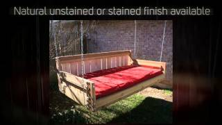 Tmp Outdoor Furniture Country Red Cedar Daybed Swing