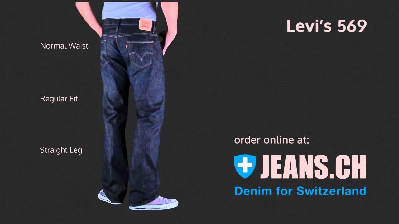 levis 569 jeans fit videos von jeans ch youtube. Black Bedroom Furniture Sets. Home Design Ideas