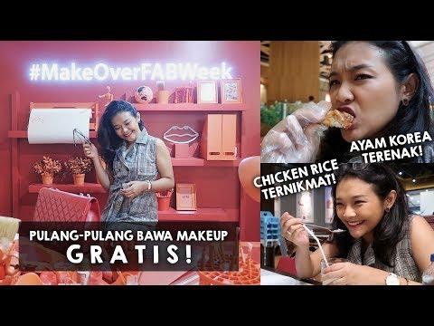 Dapet Make Over Makeup GRATIS , Makan Fried Chicken Korea TERENAK se-Jakarta! | RIRIEPRAMS