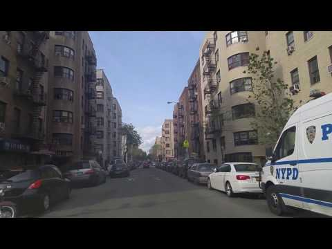 Driving from Mott Haven to Highbridge in The Bronx,New York