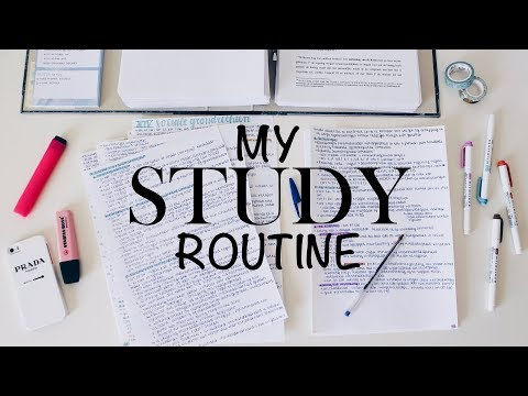 MY STUDY ROUTINE - study routine of a law student