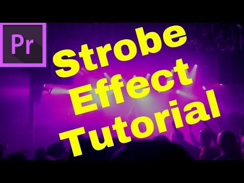 How to make music video strobe effect in Adobe premiere pro cc  2017