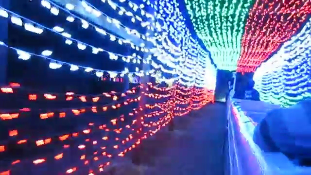 Griffith Park Train Ride Christmas Light Show 12/8/15 - YouTube