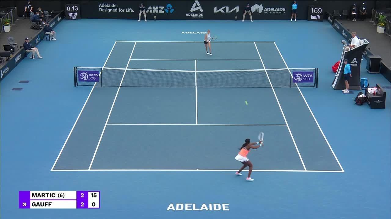 P. Martic vs. C. Gauff | 2021 Adelaide Round 2 | WTA Match Highlights
