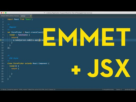 Use Emmet with React JSX in Sublime Text - YouTube