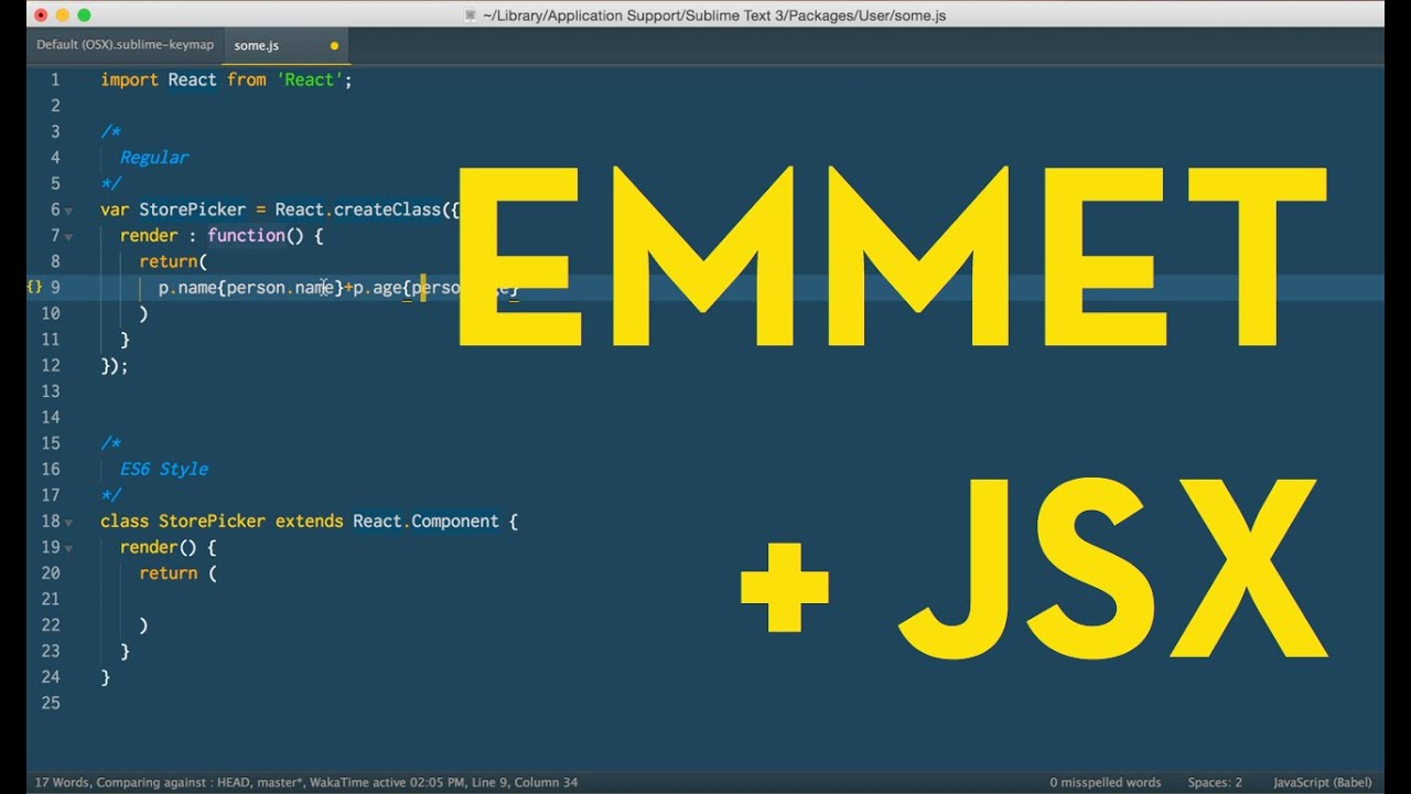 Emmet expansions and className in React JSX   Wes Bos