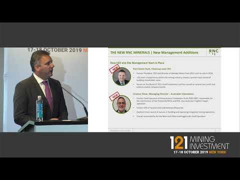 Presentation: RNC Minerals- 121 Mining Investment New York Autumn 2019
