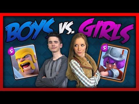 Clash Royale - GIRLS VS BOYS CHALLENGE!