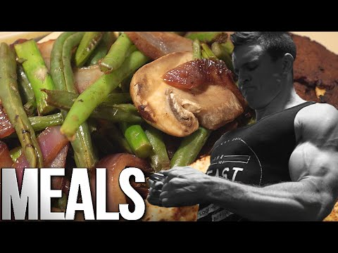 Full Day of Vegan Meals - Men's Physique 4 Weeks Out!