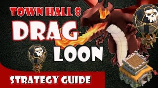 Clash of Clans - How to Dragloon (Dragons & Balloons) TH8 3 Star Clan War Attack Strategy
