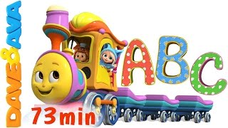 Repeat youtube video Learn Colors, Numbers and ABCs. ABC Songs for Kids. Alphabet Song. Nursery Rhymes from Dave and Ava