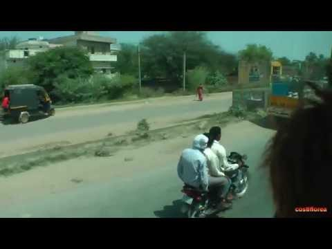 India,Jaipur to Delhi by bus - Trip to Nepal,Tibet,India part 38 - Travel video HD