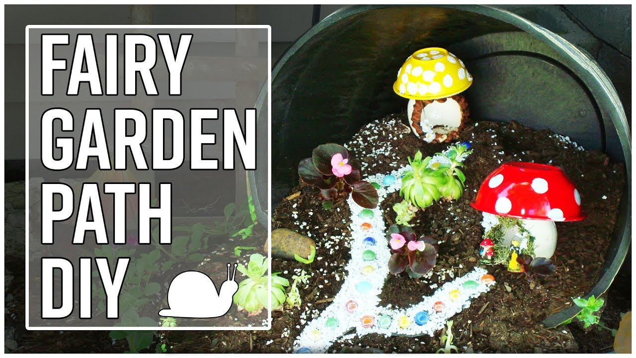 Outdoor Fairy Garden Path DIY   Movable And Reusable