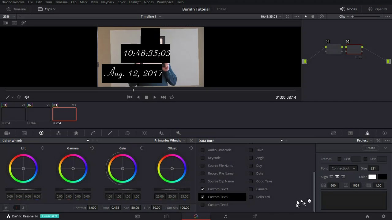 timecode - How to burn timestamp onto video? - Video Production