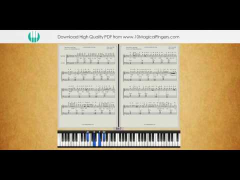 Ae Dil Hai Mushkil Piano Staff Notation Sheet with Chords  | PDF SHEET MUSIC
