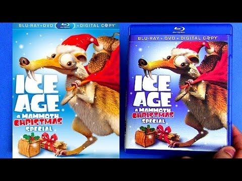 Ice Age A Mammoth Christmas blu ray unboxing review - YouTube