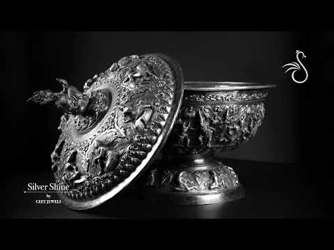 A Contemporary Silver Burmese Fruit Bowl Showreel | Silver Shine by Geet Jewels