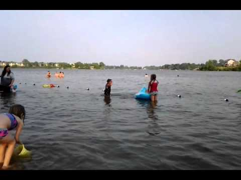 Kids Swimming In A Lake kids swimming at the lake in belleville,mi. 6~8~11 - youtube