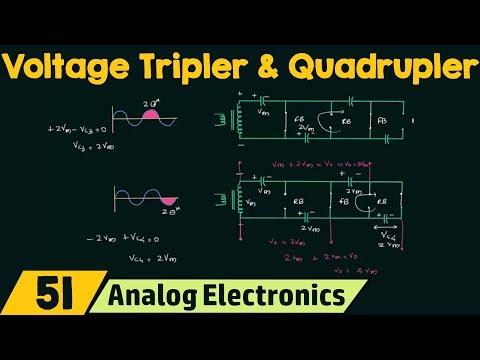 Voltage Multiplier Circuits Voltage Tripler Quadrupler Youtube