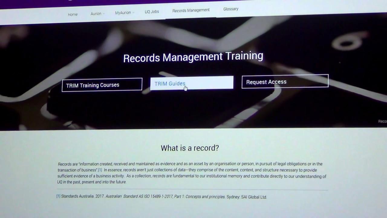 Video - TRIM upgrade live demonstration - Records Management