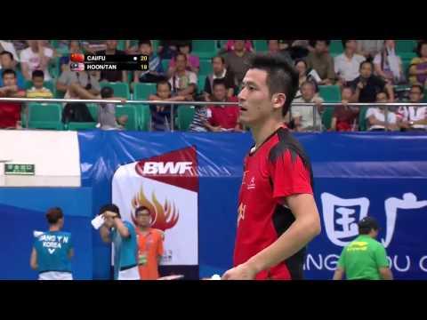 Video Vòng 3 giải cầu lông Vô Địch Thế Giới 2013  Cai Yun  Fu Haifeng vs Hoon Thien How   Tan Wee Ki