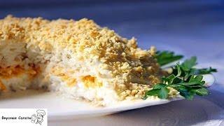 Салат с горбушей отварной