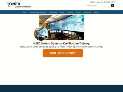 NERC System Operator Certification Training | Tonex.Com