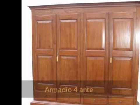 Produzione armadi classici guardaroba artigianali in legno vecchio ...