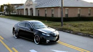 ACURA TL SH-AWD ROLLING ON WORK WHEELS + ROTORA BBK