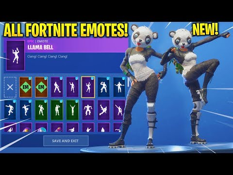 *NEW* PANDA TEAM LEADER SKIN SHOWCASE WITH ALL FORTNITE DANCES & EMOTES!