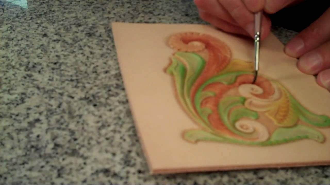 Coloring Leather with Eco Flo Leather Dye - YouTube