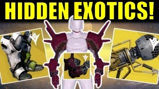 Destiny: hidden exotics! | what they are & how we found them! | potential rise of iron exotics