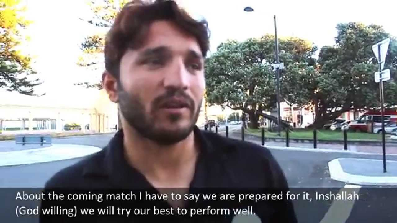 Gulbadin Naib Afghan Cricketer Exclusive Interview in Napier