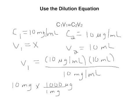 How To Use The Dilution Equation