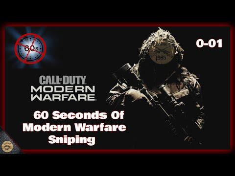 🔴 60 Seconds Of Modern Warfare Sniping 0-01 🔴