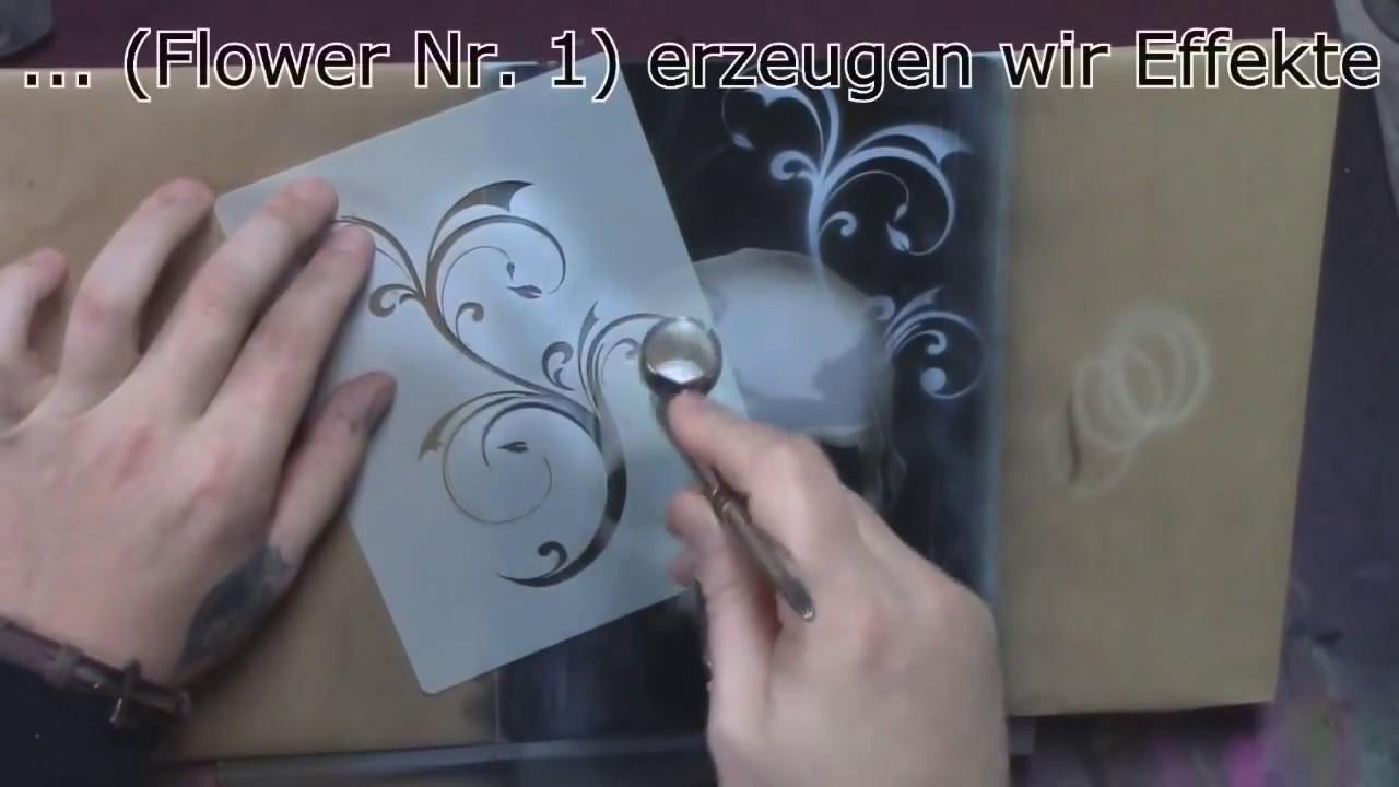 Totenkopf Schablone Airbrush Videotutorial Anleitung Skull