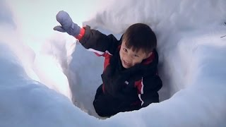 I FOUND A SNOW CAVE!!! Throwback Thursday TIME WARP with Little Evan and Baby Jillian!