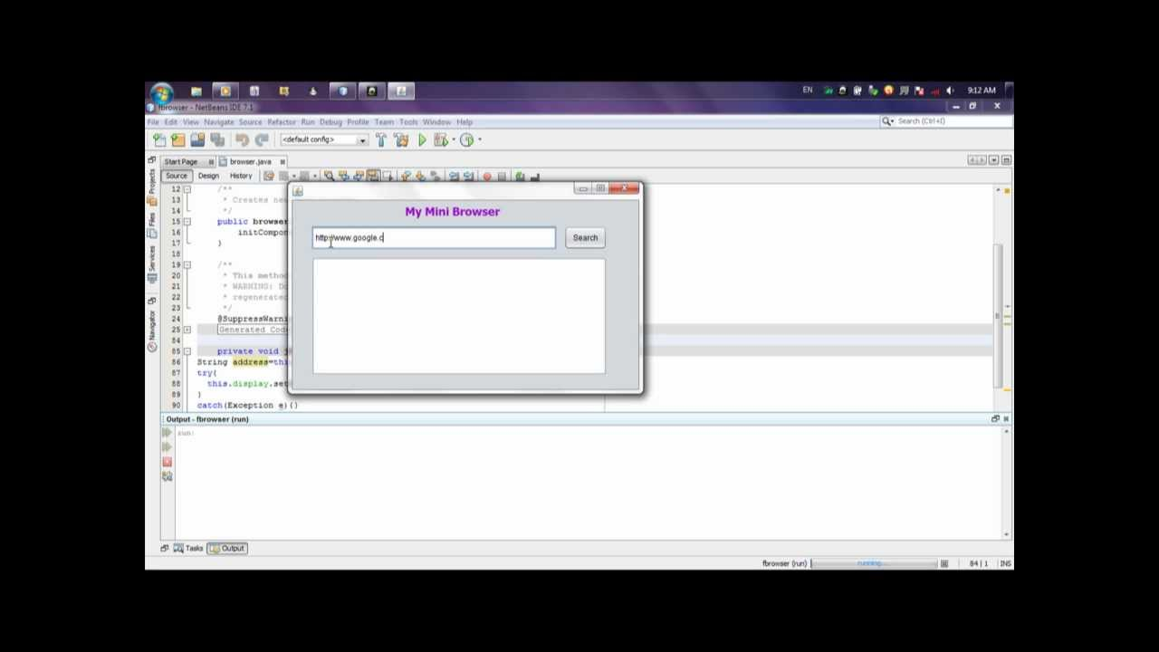 How to create Mini browser using java program by Sagni Telila