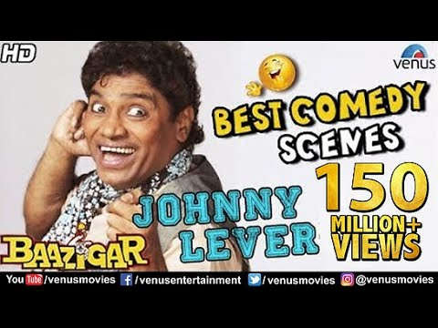 Johnny Lever - Best Comedy Scenes | Hindi Movies | Bollywood Comedy Movies | Baazigar Comedy Scenes: For More Bollywood Comedy Movies : http://bit.ly/2npjQVg Enjoy Bollywood Superhit Movies : http://bit.ly/2nUSHx3 For Best Bollywood Dialogues : http://bit.ly/2oJryKT Evergreen Bollywood Classic Movies : http://bit.ly/2nUJh4R Sunil Pal Ke Joke Pal - Comedy Gags : http://bit.ly/2nGuPew  Johnny Lever - Best Comedy Scenes | Bollywood Comedy Movies | JUKEBOX | Baazigar Comedy Scenes |  Movie : Baazigar Director : Abbas Mustan Producer : Ganesh Jain Writer : Robin Bhatt, Akash Khurana, Javed Siddiqui Music : Anu Malik Starcast : Shah Rukh Khan, Kajol, Shipa Shetty, John Lever, Dilip Tahil & Rakhee Gulzar & Others.  For More Updates, Subscribe to; For Blockbuster Movies https://www.youtube.com/user/VenusMovies  For Hit & Latest Music: https://www.youtube.com/user/venus   For Movies & Music in Regional Languages:  https://www.youtube.com/user/venusregional   For Heavenly & Peaceful Devotional Music:  https://www.youtube.com/user/venusdevotional  Also You Can: 'LIKE' us on Facebook:  https://www.facebook.com/venusentertainment   'FOLLOW' us on Twitter:  https://twitter.com/venusmovies   'CIRCLE' us on Google+: https://plus.google.com/+VenusMovies