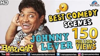 Johnny Lever - Best Comedy Scenes | Hindi Movies | Bollywood Comedy Movies | Baazigar Comedy Scenes thumbnail