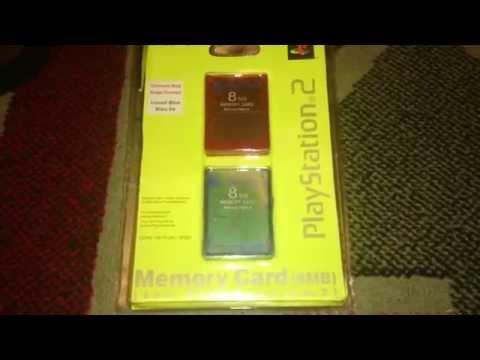 Nostalgamer Unboxing Memory Card 8MB Magic Gate On Sony Playstation 2 Two UK System PAL Version