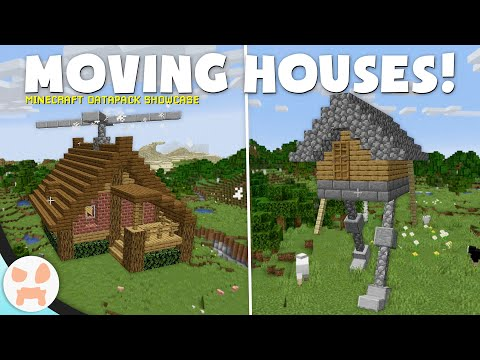 FLYING & WALKING HOUSES in Minecraft 1 14! - YouTube