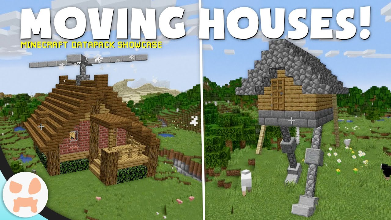 FLYING & WALKING HOUSES in Minecraft 8.84!