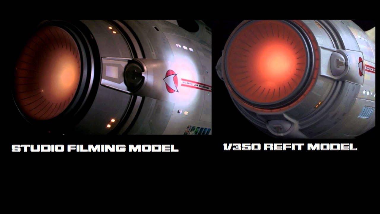 Star trek uss enterprise ncc refit 1 scale model - Uss Enterprise Refit 1 350 Replica And Tmp 8 Foot Filming Model Comparison Youtube