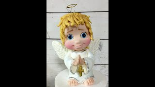 Ангел из мастики ( fondant angel tutorial, Engel aus Fondant Tutorial)