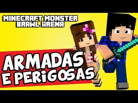 MARMOTAS ARMADAS E PERIGOSAS! - Monster Brawl Arena (Minecraft 1.10)