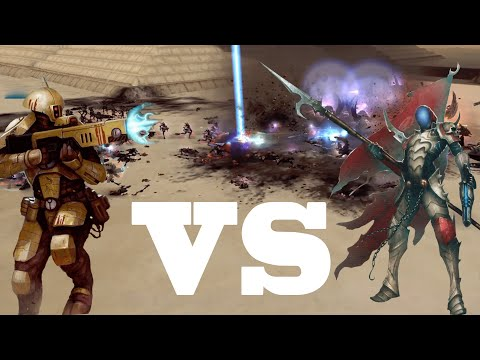 Dawn Of War Ultimate Apocalypse Mod Tau Empire Vs Dark Eldar Kabal | The Valley Of The Emperors