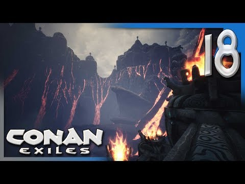 GETTING BLACK ICE & EXPLORING THE VOLCANO! | Conan Exiles Multiplayer Gameplay/Let's Play S4E18